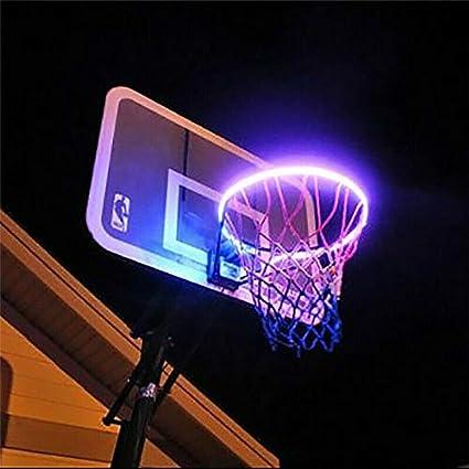 LED Basketball DIY Rim Lights Waterproof Basketball Solar Energy Hoop Light