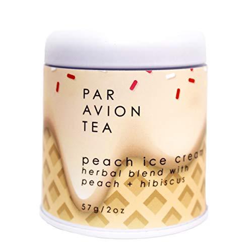 Par Avion Tea, Peach Ice Cream - Herbal Blend with Peach + Hibiscus - 2 oz