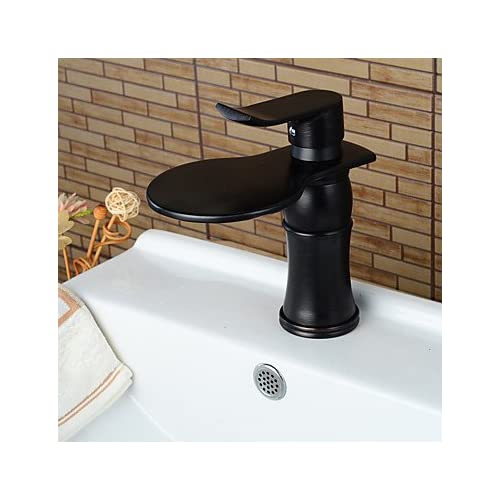 50%OFF W&P Vessel Waterfall Single Handle One Hole Oil-Rubbed Bronze Bathroom Sink Faucet