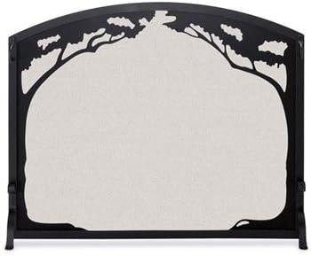 Single Panel Grand Oak Screen-Matte Black