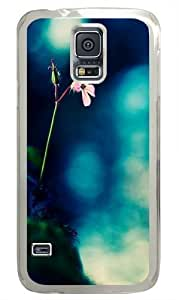 Flowers Rocks Fuzzy Green Custom Samsung Galaxy S6/Samsung Galaxy S6 Case Cover Polycarbonate Transparent