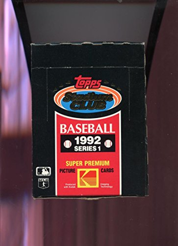 1992 Topps Stadium Club Baseball Wax Pack Box Series 1 One PLUS POSTER ()