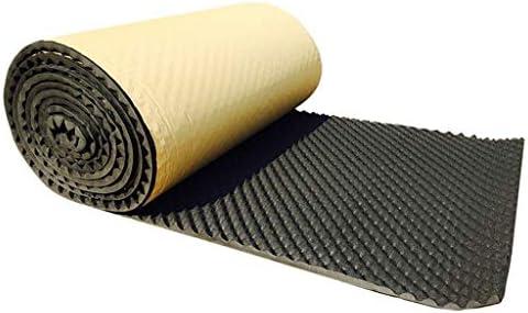 ベッドルーム吸音綿、5平方メートル/防水屋内ピアノルーム耐久性のあるノイズリダクションレコーディングスタジオアコースティックパネル (Color : Black)