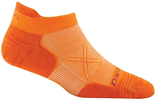 Darn Tough Coolmax Vertex No Show Tab Ultralight Cushion Socks - Women's Vibrant Orange Small DISCONTINUED
