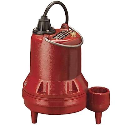 "Liberty Pumps LE51M-2 Manual Submersible Sewage Pump 1/2HP, 115V, 25' Cord, 2"" discharge"