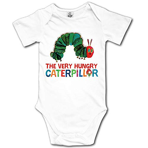 Ghhpws Caterpillar The Very Hungry Baby's Boy's/Girl's Short Sleeve Comfortable Jumpsuit Outfits White Size 12 Months]()