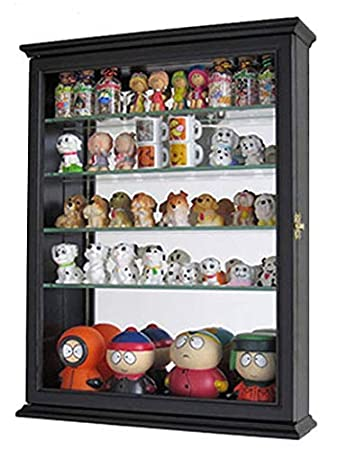 Outside CD06 Mirrored Back Small Wall Curio Cabinet Shadow Box Display Case 18.5 H X 14.25 W X 3.5 D White