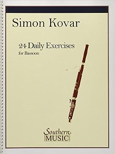 Amazon com: 24 Daily Exercises for Bassoon (0884088709266): Simon
