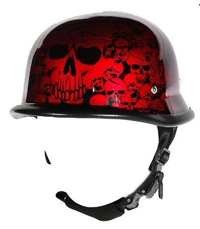 Burgundy Motorcycle Helmet - 5