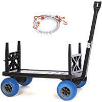 Mighty Max Plus One Beach/Sports Cart with 4 All-Terrain Rolling Wheels