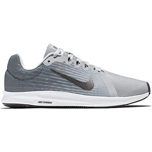 (Nike Womens WMNS Downshifter 8 (W) Wolf Grey MTLC Dark Grey Black Size 10.5)