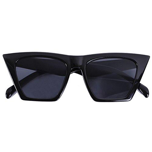 lujo sol de de sombra de hombre de Anteojos mujer sol Gafas ojo de moda gato Negro Gafas Ambar de S17047 de TOOGOO degradada qwT74xEfn