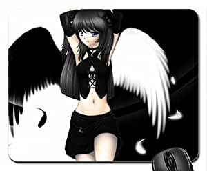 dark and white side Mouse Pad, Mousepad (10.2 x 8.3 x 0.12 inches)