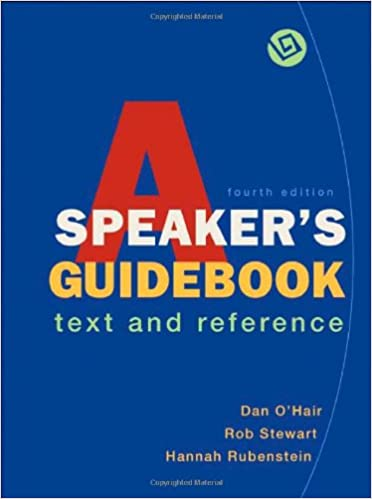 A speakers guidebook text and reference dan ohair rob stewart a speakers guidebook text and reference dan ohair rob stewart hannah rubenstein 9780312472825 amazon books fandeluxe Gallery