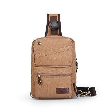Amazon Com Simu Canvas Bag Men Chest Bag Casual Travel Rucksack