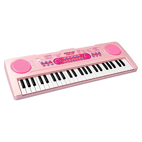 aPerfectLife Chargable Kids Keyboard Piano, 49 Keys Multi-Function Electronic...