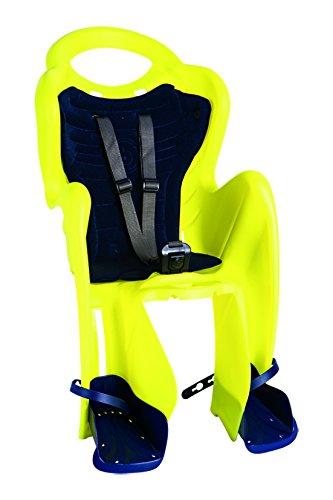Bellelli Mr. Fox Baby Carrier Child Bike Seat - Standard Multifix Anchor System, Yellow - 50lbs. by Bellelli