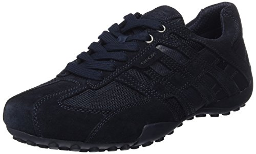 GEOX Men Snake 125 Sneaker, Navy, 46 M EU (12.5 US)
