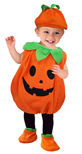 Baby Holloween Costumes (La Vogue Unisex Newborn Baby Toddler Holloween Cute Pumpkin Costume Set of 3 S 0-6 Month)