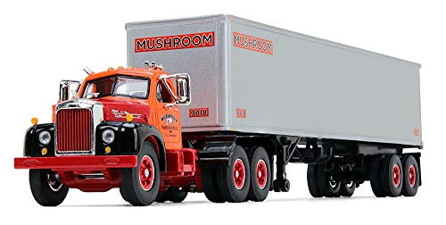 First Gear 1/64 Scale Diecast Collectible Mushroom Transportation Mack B-61 Day-Cab with 40