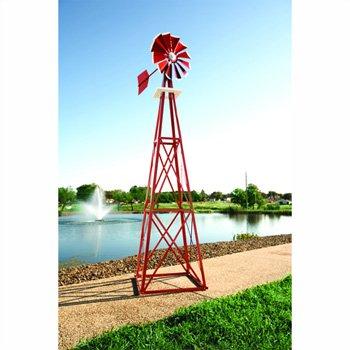ons Ornamental Backyard Windmill - 8ft.3in.H, Galvanized Finish, Model# BYW0038 ()