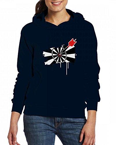 A dartboard with dart Womens Hoodie Fleece Custom Sweartshirts