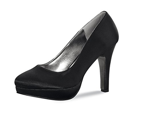 Elsa Coloured Shoes - Zapatos de vestir de Satén para mujer Negro - negro
