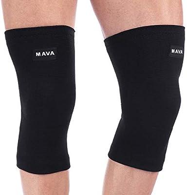 c8123df03d Amazon.com: Mava Sports Knee Support Compression Sleeve (All Black ...