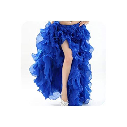 Belly Dance Clothing Long Maxi Skirts Women Oriental Belly Dance Skirt,RoyalBlue,L