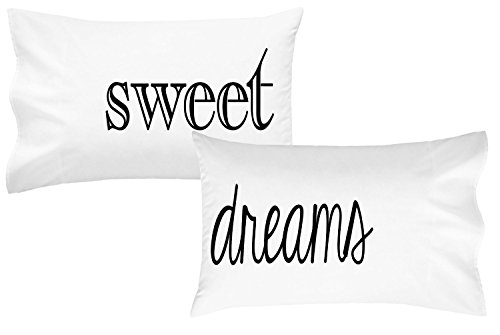 Carolina Quilted Sham (Oh, Susannah Sweet Dreams Pillowcases Font 1 Couples Pillow Cases Guest Room Pillow Cases (2 Standard / Queen Pillowcases) Guest Bedroom Bedding Valentines Gifts)