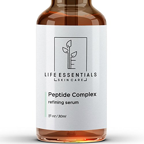 Peptide Complex Serum For Face - Boost Collagen To Heal & Repair Skin - Anti Aging, Refines Wrinkles, Evens Skin Tone, Restores Elasticity & Firmness - Hyaluronic Acid, Aloe Vera, Jojoba Oil Vitamin E