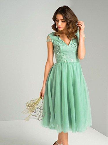 Vestido Trapecio London Verde Para Chi Mujer 6Y7CqZ5nw