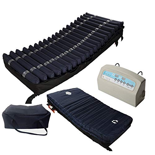 "Medical MedAir Low Air Loss Mattress Replacement System with Alarm, 8"" with Quilted Cover Fully Digital with Remote Control"