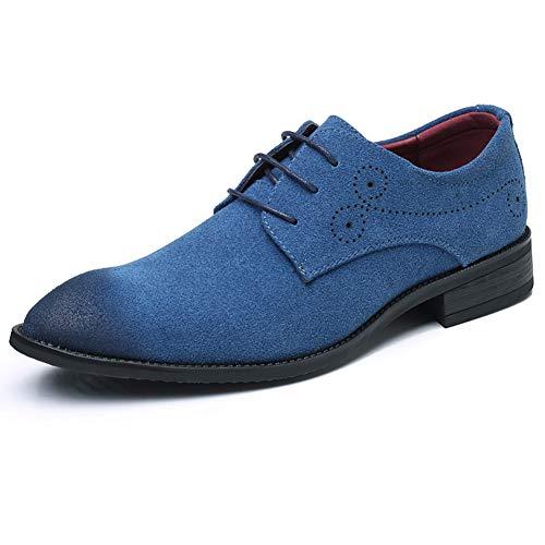 Scarpe Blu Scarpe da NXY in Scarpe Uomo Oxford Stringate Pelle Pelle in Scamosciata Classiche Scamosciata B67pq