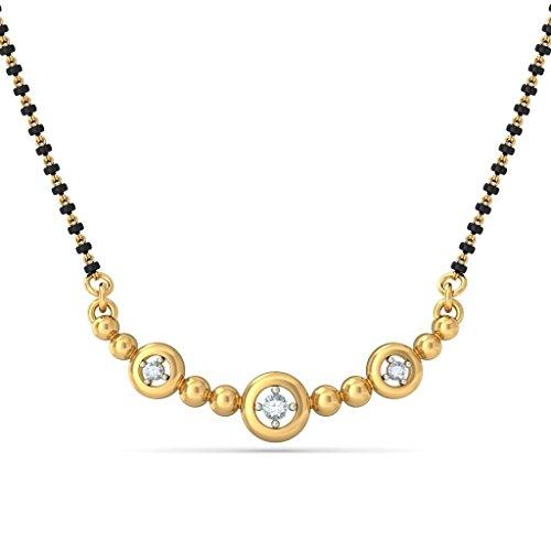 Or jaune 14K 0,06CT TW White-diamond (IJ | SI) Mangalsutra