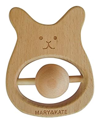Montessori Wooden Baby Toy - Sensory Bunny Teether - BPA-free - CPSC CertifiedCPSC Certfied - No Chemical Coating by Mary & Kate that we recomend personally.