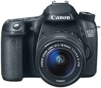 Canon EOS 70D + 18-55 STM - Cámara digital (20.2 MP, SLR Kit, CMOS ...