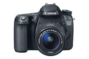 Canon EOS 70D + 18-55 STM - Cámara digital (20.2 MP, SLR Kit, CMOS, 18 - 55 mm, Canon EF, TTL)