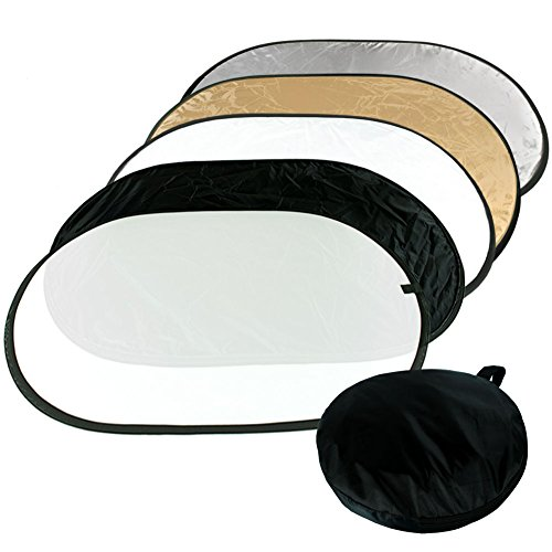 ePhotoInc 60CM x 90CM 5 in 1 Photography Studio Video Multi Color Photo Collapsible Reflector Oval Disk REF2436 by ePhotoinc