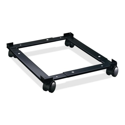 Lorell Commercial File Caddy - 4 Caster - Steel - 16.6quot; x 4quot; x 11.4quot; - Black by Lorell