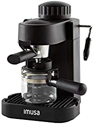 IMUSA, GAU-18200, Electric Espresso & Cappuccino Maker 4-Cup, Black by Imusa
