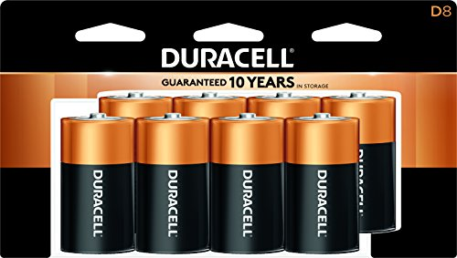Cr123a Type - Duracell - CopperTop D Alkaline Batteries with recloseable package - long lasting, all-purpose D battery for household and business - 8 count