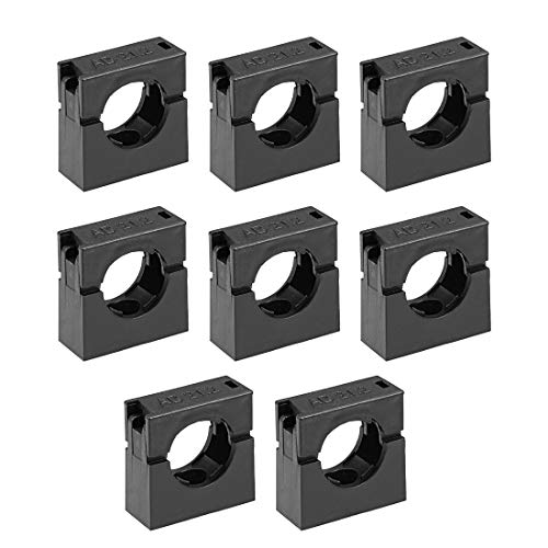uxcell Corrugated Tube Holder AD21.2 Plastic Mounting Bracket Pipe Clamp Clips with Double Struts - Double Strut