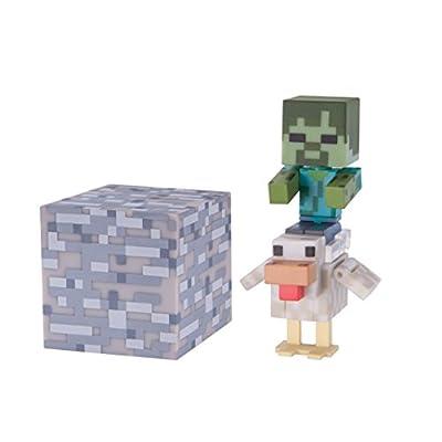 Minecraft Series 3 Action Figure (3 Inch) Chicken Jockey from Jazwares