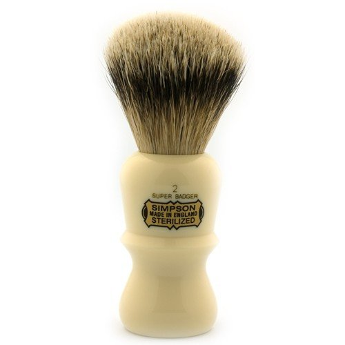 Simpson E2 Super Badger Shaving Brush by Simpson