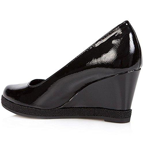 Marco Tozzi Patent Wedge Shoe 307 126 Black Patent PzFgfac
