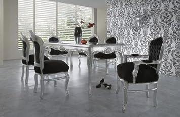 Barock Esszimmer Set 1 Tisch 6 Stühle   Prunkvolles Wohnambiente Schloss  Möbel Esszimmerset