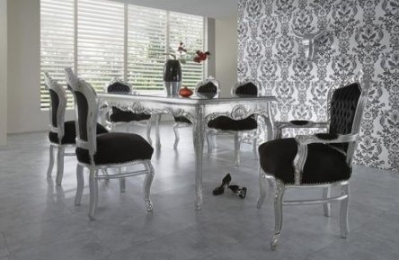 Schön Barock Esszimmer Set 1 Tisch 6 Stühle   Prunkvolles Wohnambiente Schloss  Möbel Esszimmerset: Amazon.de: Sport U0026 Freizeit