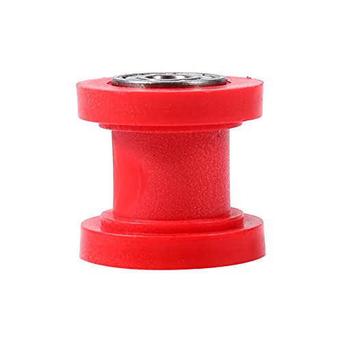 8 mm Pulley Tensioner Chain Roller, Keenso Chain Roller Slider Tensioner Wheel Guide for Motorcycle Pit Dirt Mini Bike ATV (Red)