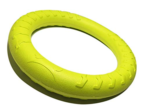 (MASKOTA Rubber Ring Dog Toy for Tug War, Fun for Throw, Chase and Fetch Games, Exercise and Training for Medium to Large Puppies & Adult Dogs)